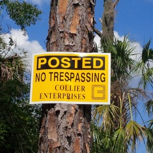 No Trespassing in FL